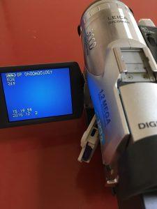 Panasonic NV-GS70 ミニDVテープが再生できない青い画面
