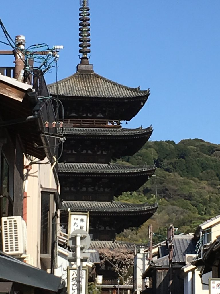 京都法観寺の五重の塔(kyoto temple hoganji)