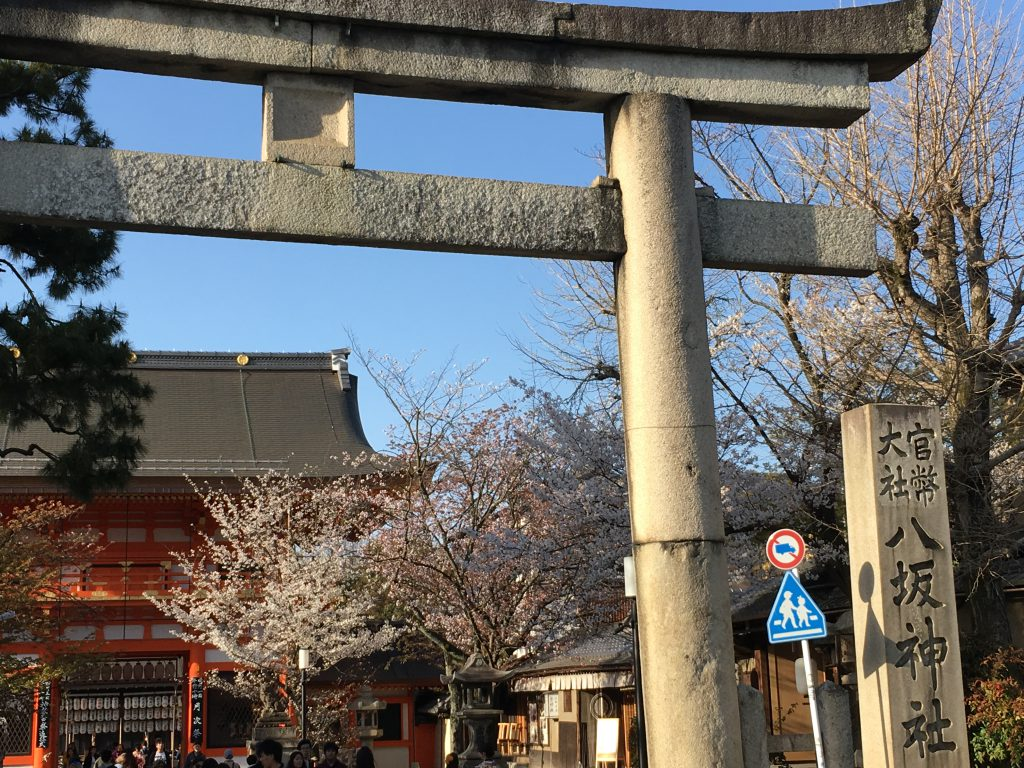 八坂神社と桜